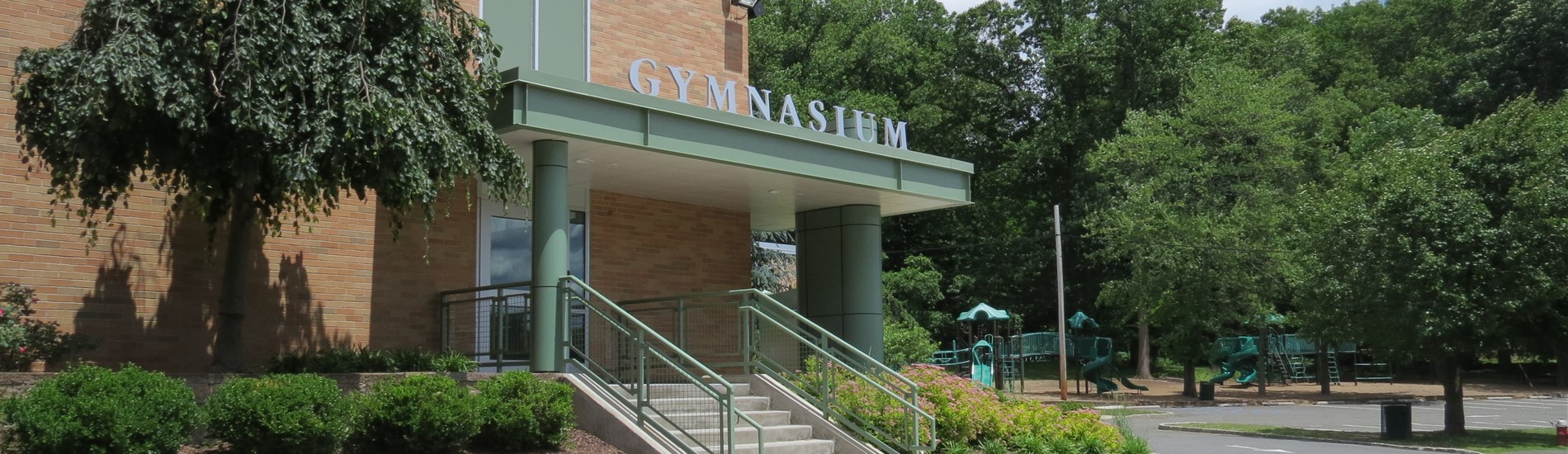 Dorchester School Gymnasium entrance