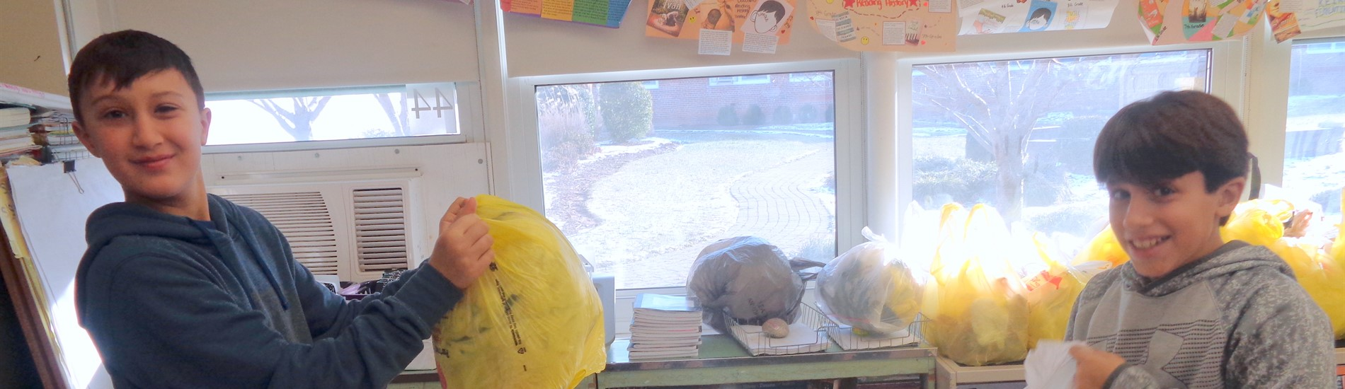 MLK Service Activity - Save the Planet - collecting plastic bags competition