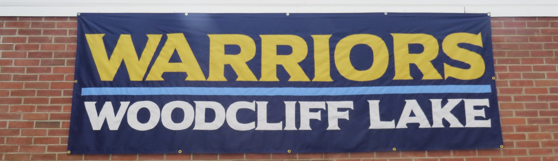 Lobby banner- Warriors - Woodcliff Lake