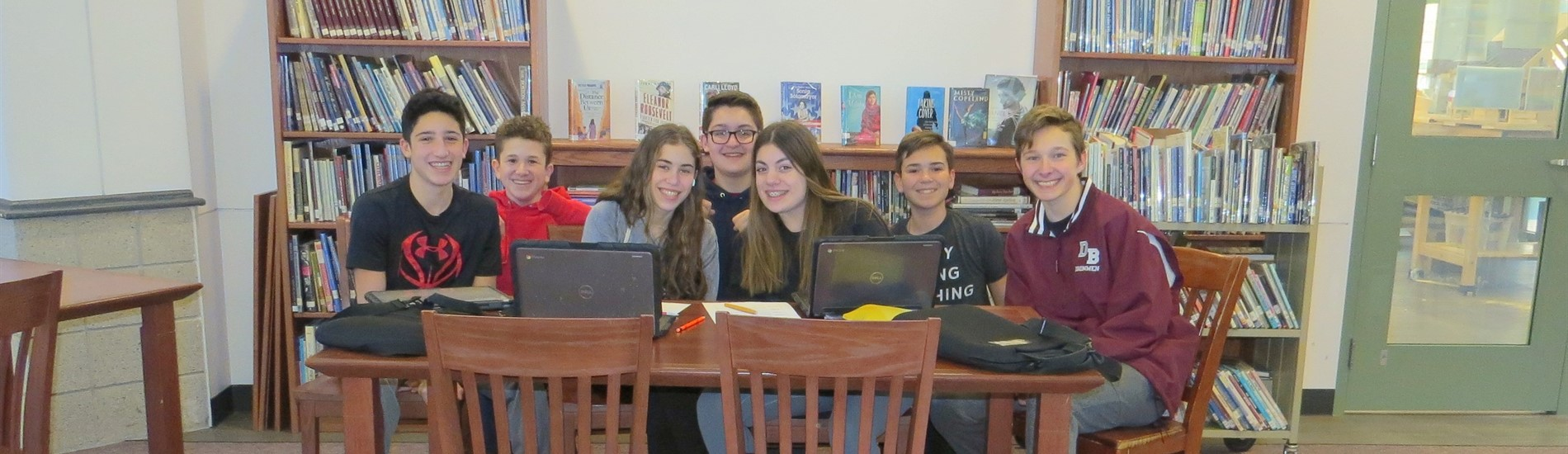 8th graders in our media center